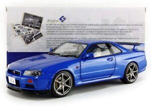 1/18 Solido 1999 Nissan Skyline GT-R (R34) Bayside Blue (S1804301)