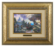 Thomas Kinkade Cinderella Wishes Upon a Dream Framed Brushwork (Gold Frame)