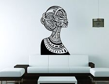 Ebony Wall Sticker Mural Decal Vinyl Decor Beautiful Woman Tribal Salon African