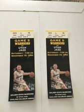Vintage 1994 NBA Golden State Warriors pair of 2 used game tickets Chris Mullen