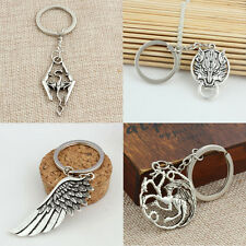 Cool Metal Fantasy Dragon Keyring Key Chain Gift Keyfob Present
