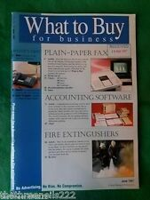 WHAT TO BUY FOR BUSINESS #195 - FIRE EXTINGUISHERS - JUNE 1997
