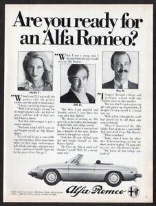 1981 ALFA ROMEO Spider Vintage Original Print AD - Convertible photo Ready for..