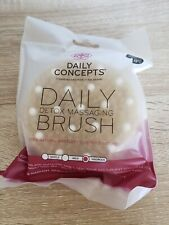 Daily Concepts Detox Massaging Brush Dry Brushing Natural Bristles Beechwood new