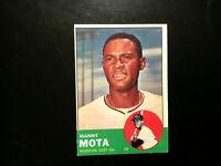 1963 TOPPS BASEBALL HOUSTON ASTROS COLTS, MANNY MOTA ROOKIE RC CARD  EX+HI-END!