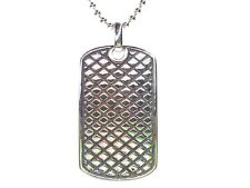 GENTS STERLING SILVER DOG TAG PENDANT with FREE STERLING SILVER CHAIN