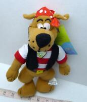 """Scooby-Doo Pirate Plush Doll Toy 11"""" with tags Dave & Buster Prize"""