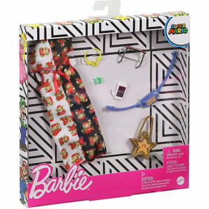 Mattel Barbie SUPER MARIO FASHION PACK #1 (Hoodie Dress, Fanny Pack &more) GJG47