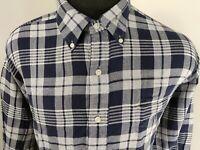 Ralph Lauren Mens Tilden Long Sleeve Button Down Shirt Size XL Plaid Blue