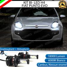 KIT LED H4 6000K FIAT PUNTO EVO 18000 LUMEN CANBUS XENO XENON 100% NO ERRORE