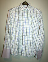Mens ROBERT GRAHAM White/ Long Sleeve Button Front Dress Shirt 41 16 M/L