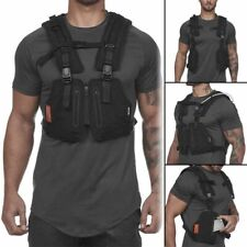 Military Tactical Chest Bag Vest Outdoor Hip Hop Function Protective Top Fishing