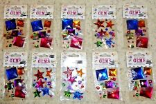 Lot 10 Arts Crafts Self Stick On Gems Embellish Scrapbooking Stickers Hobbies