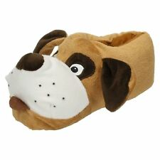 Kids Spot on Dog Slippers X2073 UK 3-4
