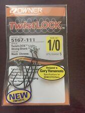 OWNER TwistLock W/CPS 1/0 Hooks 5 pcs/PK #5167-111