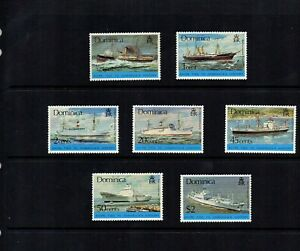 Dominica 1975 Ships Tied to Dominica's History - Set of 7 MNH - SG 467/73