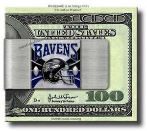 BALTIMORE RAVENS STAINLESS STEEL HELMET MONEY CLIP NFL FOOTBALL - FREE SHIP #F'