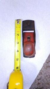 "Vtg antique finger toy makers small mini wood block plane tool 4-5/8"" bottom usa"