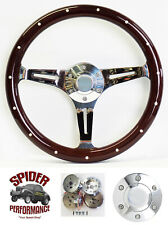 "1963-1964 Ford Falcon steering wheel 15"" DARK MAHOGANY WOOD"