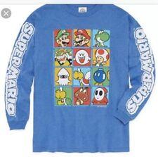 Nwt Boys Size 18/20 Nintendo Super Mario Bros. Long Sleeve Graphic T-shirt Top