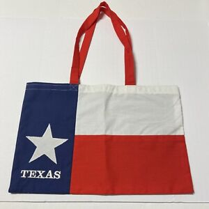 Texas Flag Fabric Tote Bag Lone Star State South Independence Handcrafted VTG