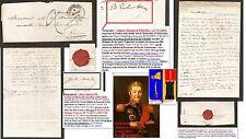 Lettre 1841 signée Nobles Familles: James EWBANK DE WESPIN & Jules DE WARENGHEIN