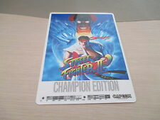 >> STREET FIGHTER 2 II' CHAMPION ED CAPCOM ARCADE PCB SHITAJIKI PENCIL BOARD! <<