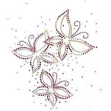 Rhinestone Transfer Hot fix Motif Fashion Design Jewellery Butterfly Dance deco