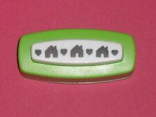 perforatrice bordure,frise (motif: maison+coeur)   taille de la découpe (46x7mm)