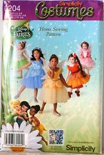 SIMPLICITY Disney FAIRIES Tinkerbell etc GIRL Costume PATTERN 0204 BB Sz 4-8 $17
