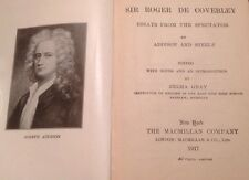 addison sir roger de coverley sir roger de coverley 1917 essays from the spectator addison and steele