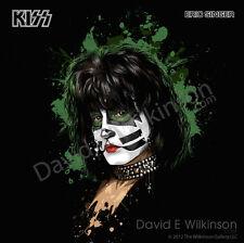 Eric Singer of KISS LP Album Size Art Giclee' by David E. Wilkinson