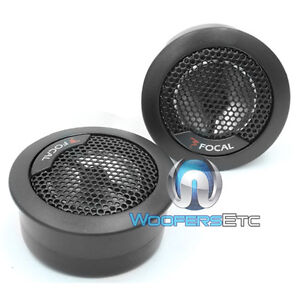 FOCAL TN-44 ACCESS 4 OHM ALUMINUM INVERTED DOME CAR AUDIO TWEETERS PAIR