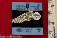 """Harley Davidson Pin """"Winged Wheel""""-Gold-H709G-P"""