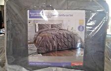 Better Homes and Gardens Full/Queen Comforter Set 3 Piece Gray Pintuck