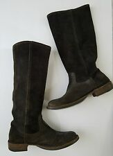 Fiorentini + Baker Toro Italy Brown waxy Suede boots 38 fits US 9