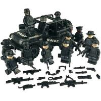 Army Military SWAT Minifigures plus Jeep