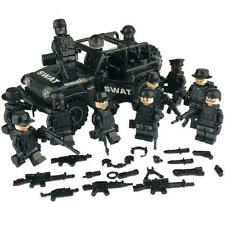 Army Military SWAT Minifigures plus Jeep - Police Minifigures