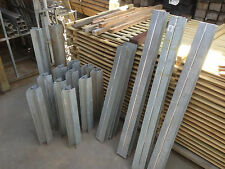 Galvanised Steel Channels for 50 mm Sleepers 45 deg Pieces 1 only Clearance