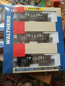 HO Scale - Walthers 932-34235 D&RGW Ballast Hopper Trains 3-Pack NEW Rio Grande