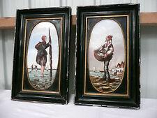 tableaux Fromentin peints porcelaine 19e napoléon III valencienne Boulogne 60 cm