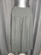BNWT Black Pepper size 14 willow green elastic waist pleated skirt Aust made EC