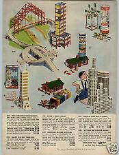 1960/1961 PAPER AD Toy Building Halsam Skyline Set Lincoln Logs Tinkertoy Bricks