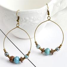 Bohemian Hoop Earrings Beads Drop Dangle Earrings Women Ear Stud Jewelry GiftSC