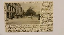 1908 Vintage Postcard Bergen Norway Street Horse drawn Carriage