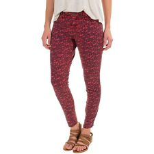 Aventura Clothing Womens Red Printed ORGANIC COTTON Stretchy Skinny Ankle Pants