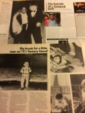 Herve Villechaize, Lot of THREE Full and Two Page Vintage Clippings