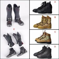1/6 Scale Army Soldiers Combat Shoes Man Boots For Hot Toy 12'' Figure Male Body