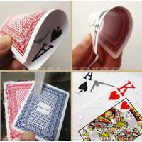 100% PLASTIC New Poker Size Good Playing Cards Excellent Large Numbers Red