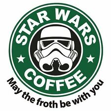 MAY THE FROTH BE WITH YOU - FUNNY PARODY QUALITY SQUARE WOODEN COASTER